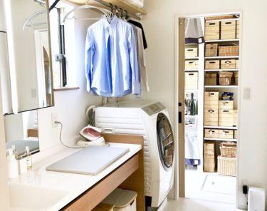 洗濯を楽にする洗面室兼ユーティリティールーム